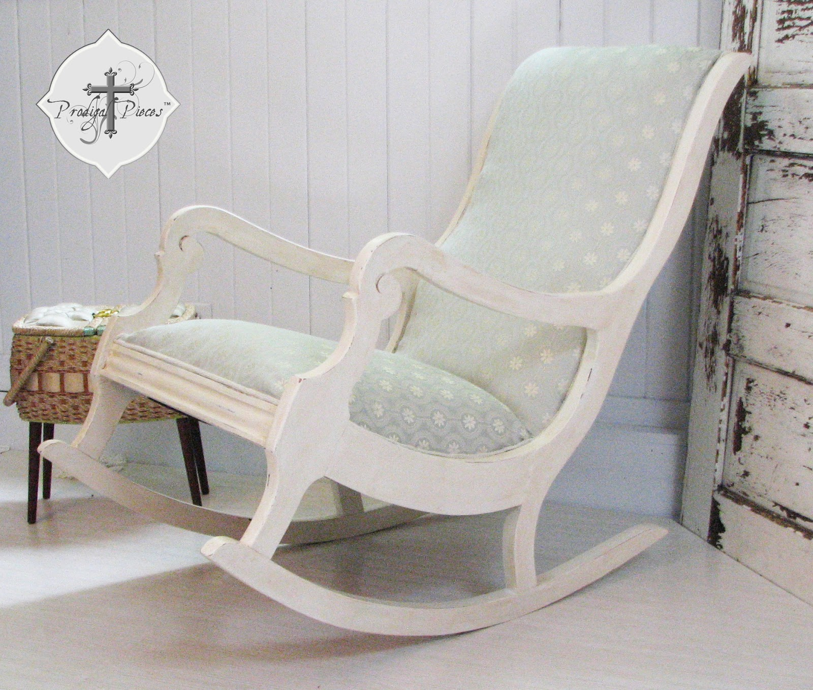 How to Reupholster & Paint a Rocking Chair Part 3 Prodigal Pieces