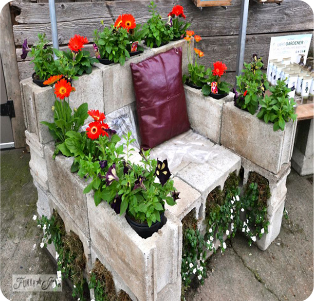 concrete block furniture. beautiful block head on over to hometalk and check out these concrete u0026 cinder block  projects more inside concrete block furniture e