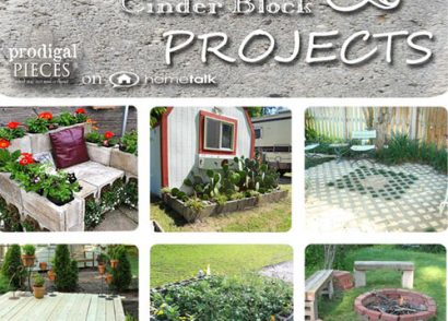 16 Concrete and Cinder Block Projects on Hometalk by Prodigal Pieces www.prodigalpieces.com #prodigalpieces