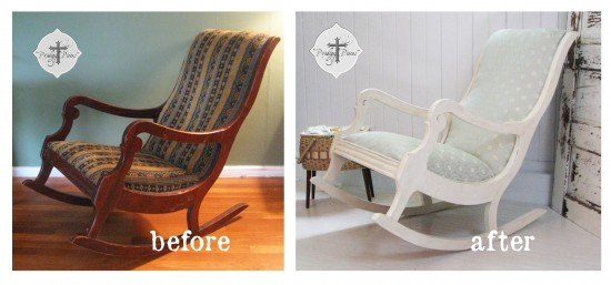 Before & After | How to Upholster a Rocking Chair by Prodigal Pieces | prodigalpieces.com