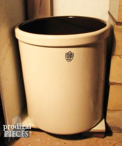 10 Gallon Crock for How to Make Fermented Crock Dill Pickles by Prodigal Pieces | prodigalpieces.com #prodigalpieces