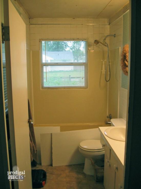 Removing Bathroom Drop Ceiling | prodigalpieces.com