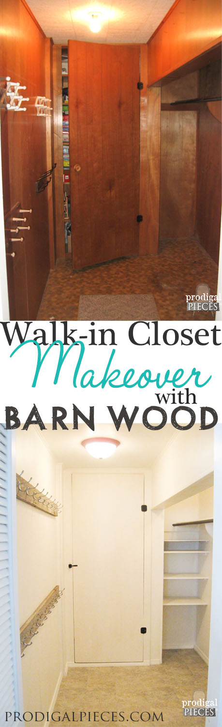 DIY Walk-In Closet Renovation with Barn Wood by Prodigal Pieces www.prodigalpieces.com #prodigalpieces