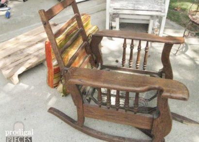 Antique Morris Rocker Base Repurposed by Prodigal Pieces | www.prodigalpieces.com