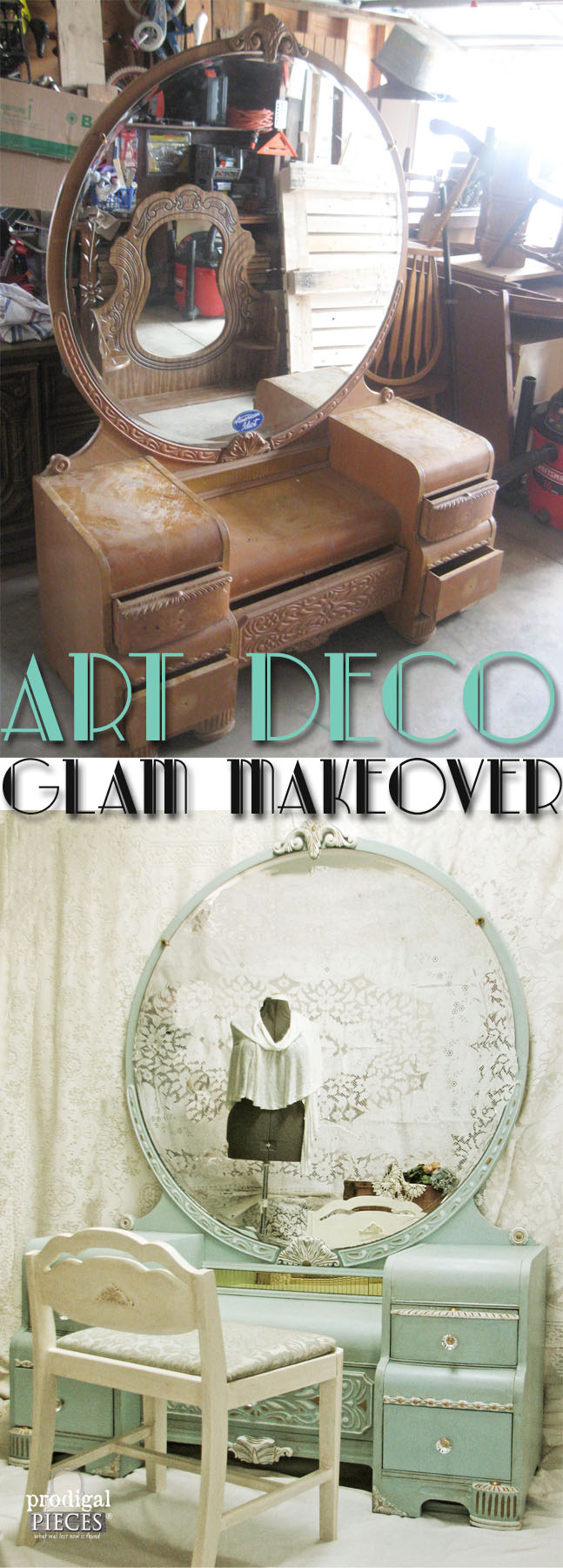 Art Deco Glam Makeover by Prodigal Pieces | www.prodigalpieces.com