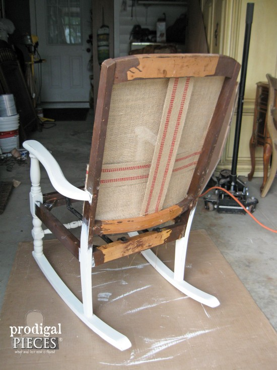 Back of Art Deco Rocking Chair by Prodigal Pieces | www.prodigalpieces.com