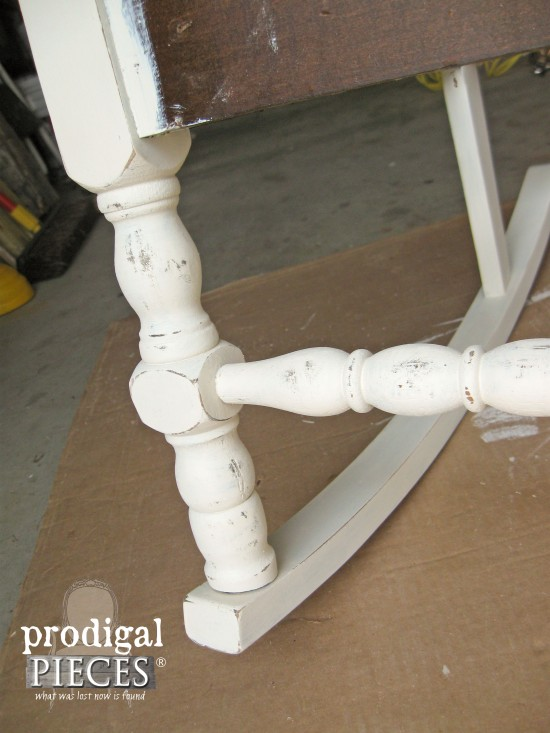 Distressing Rocking Chair Frame by Prodigal Pieces | www.prodigalpieces.com