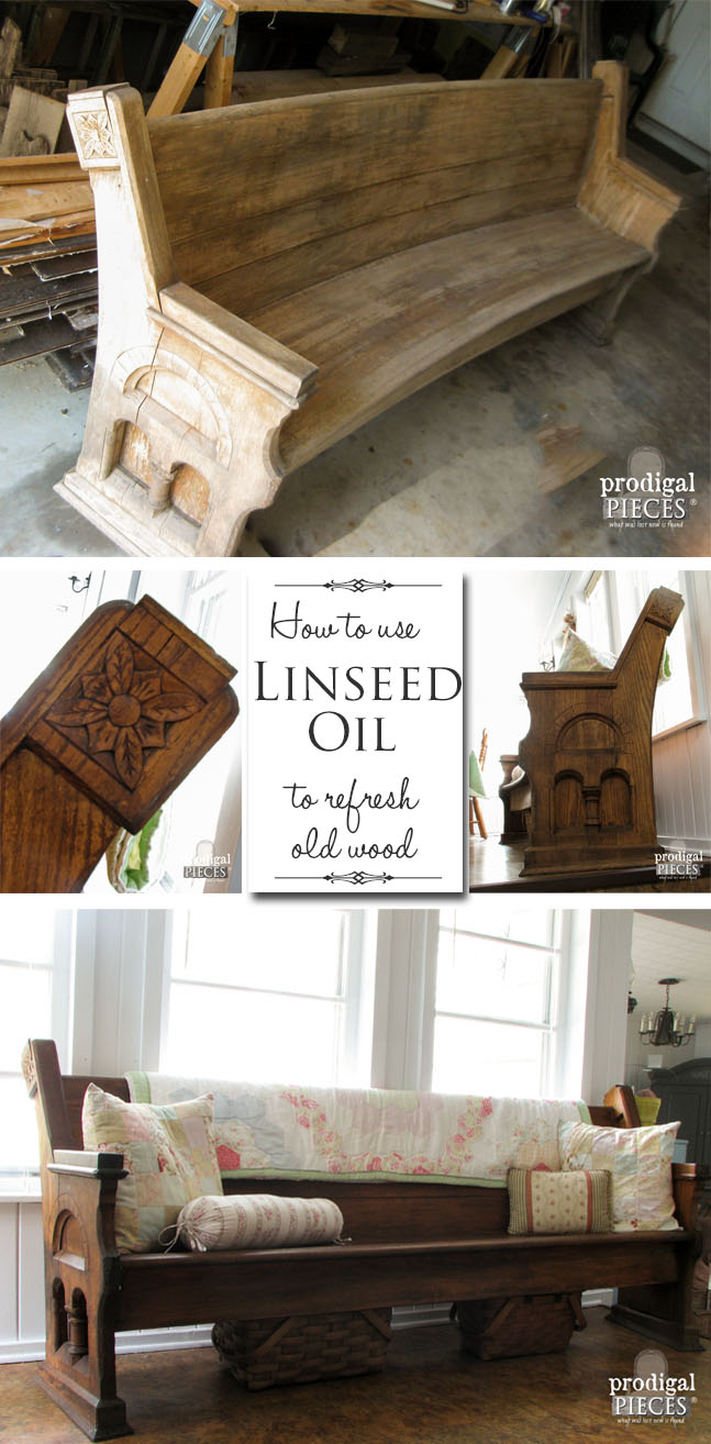 How to Use Linseed Oil to Revive Weathered and Worn Wood by Prodigal Pieces | www.prodigalpieces.com