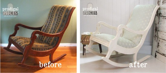 How To Upholster A Rocking Chair By Prodigal Pieces | Www.prodigalpieces.com