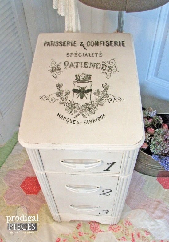 A 3 Thrifted Side Of Vanity Becomes Sweet Shabby Chic Piece With Wallpaper And