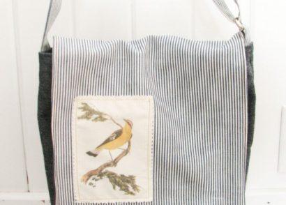 DIY Messenger Bag with Graphics Fairy Applique by Prodigal Pieces | www.prodigalpieces.com