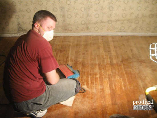 Sanding Hardwood Floors by Prodigal Pieces | www.prodigalpieces.com