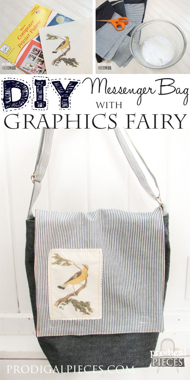 DIY Messenger Bag with Graphics Fairy Applique by Prodigal Pieces | prodigalpieces.com #prodigalpieces