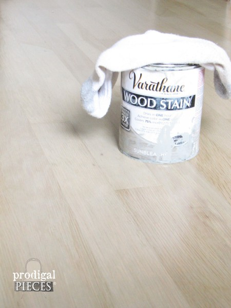 Rustoleum Sunbleached Stain for Floors in Farmhouse Style Bedroom by Prodigal Pieces | www.prodigalpieces.com