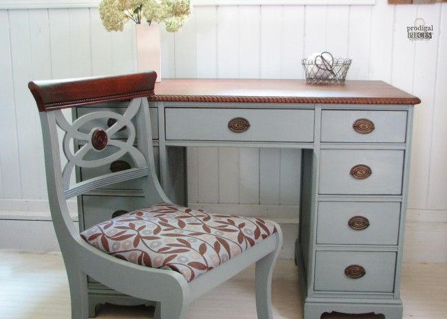 Antique Desk Gets Makeover by Prodigal Pieces | www.prodigalpieces.com