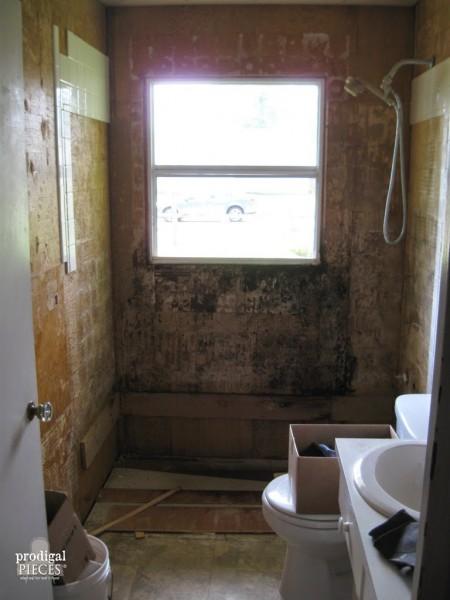 Gutted & Dirty Bathroom | prodigalpieces.com