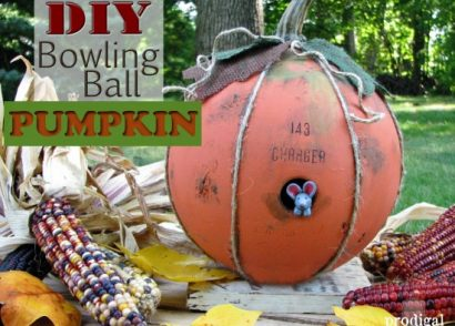 DIY Bowling Ball Pumpkin by Prodigal Pieces | prodigalpieces.com #prodigalpieces