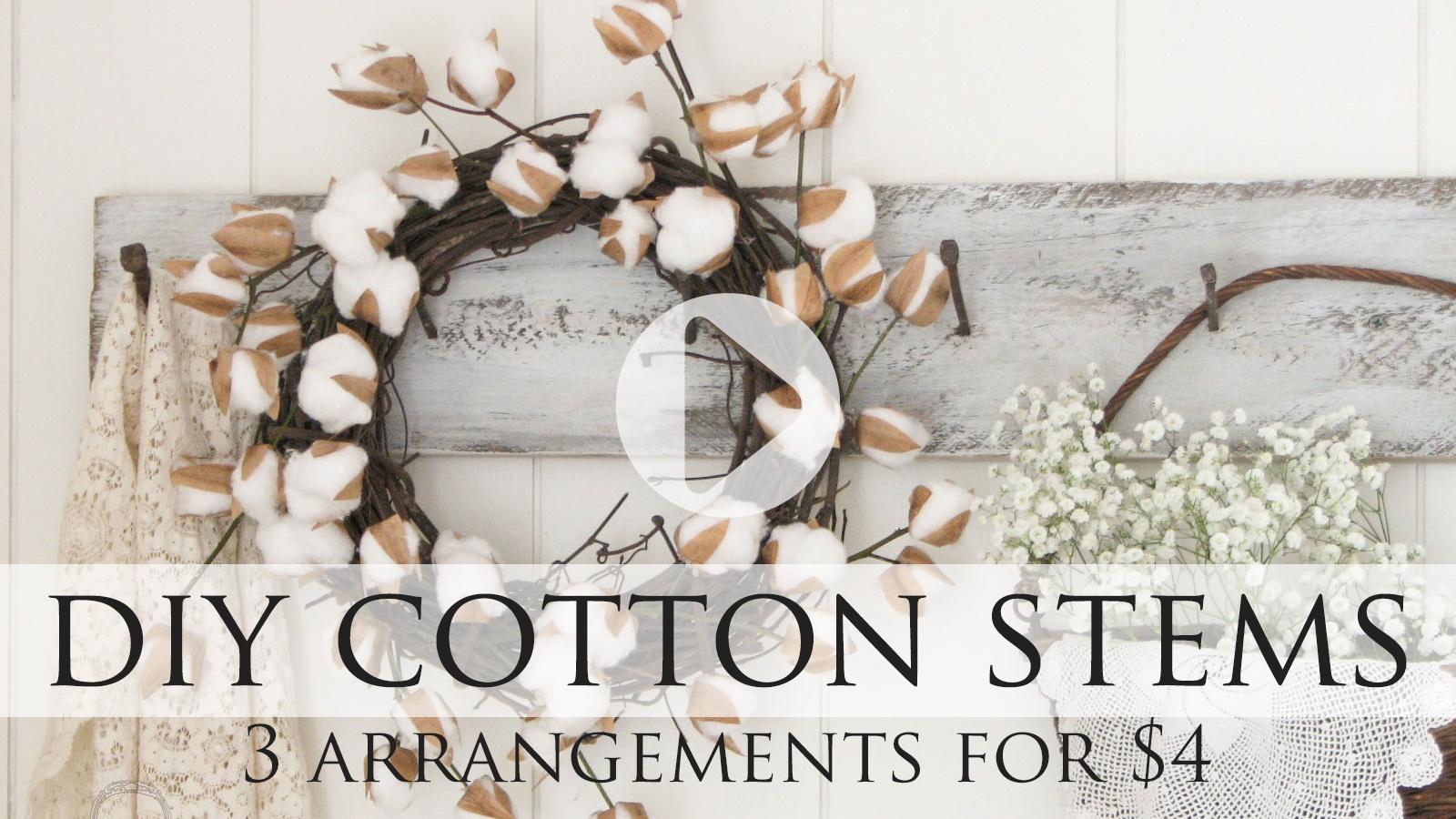 DIY Cotton Stem Tutorial by Larissa of Prodigal Pieces | prodigalpieces.com #prodigalpieces