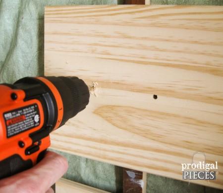 Drilling New Holes for Ikea Rast Hack | prodigalpieces.com