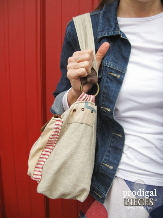 Feed Sack Purse Handcrafted by Prodigal Pieces | prodigalpieces.com