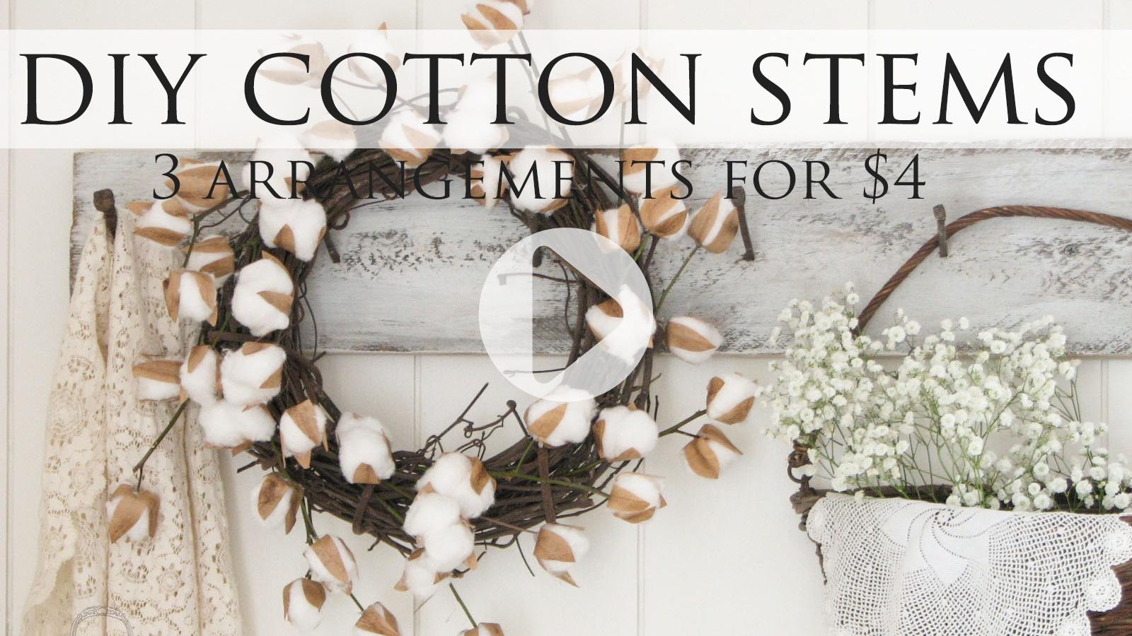 Video Tutorial for DIY Cotton Stems by Larissa of Prodigal Pieces | prodigalpieces.com