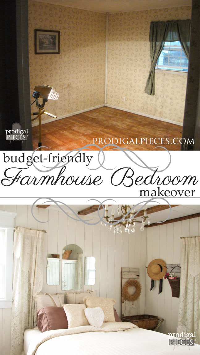 Budget-Friendly French Farmhouse Master Bedroom Makeover by Prodigal Pieces | prodigalpieces.com