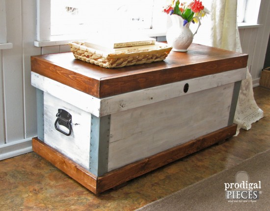 Farmhouse Style Trunk Pottery Barn Knock-Off by Larissa of Prodigal Pieces | prodigalpieces.com #prodigalpieces