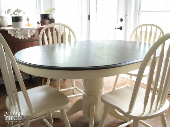 Farmhouse Dining Table with Leaves and Chairs by Larissa of Prodigal Pieces | prodigalpieces.com