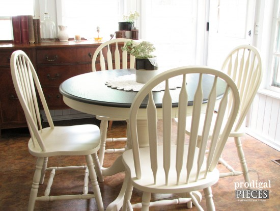 Rustic Farmhouse Dining Table & Chairs by Larissa of Prodigal Pieces | prodigalpieces.com