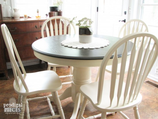 outdated 1980s dining set gets farmhouse makeover by prodigal pieces wwwprodigalpiecescom - Farmhouse Kitchen Table