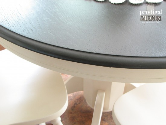 Gorgeous Painted Farmhouse Dining Table Set by Larissa of Prodigal Pieces | prodigalpieces.com