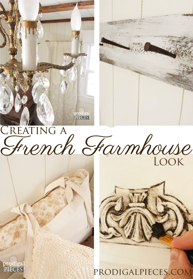 Farmhouse Style Bedroom Makeover with Trim and Bling :: Part 2 by Prodigal Pieces | www.prodigalpieces.com