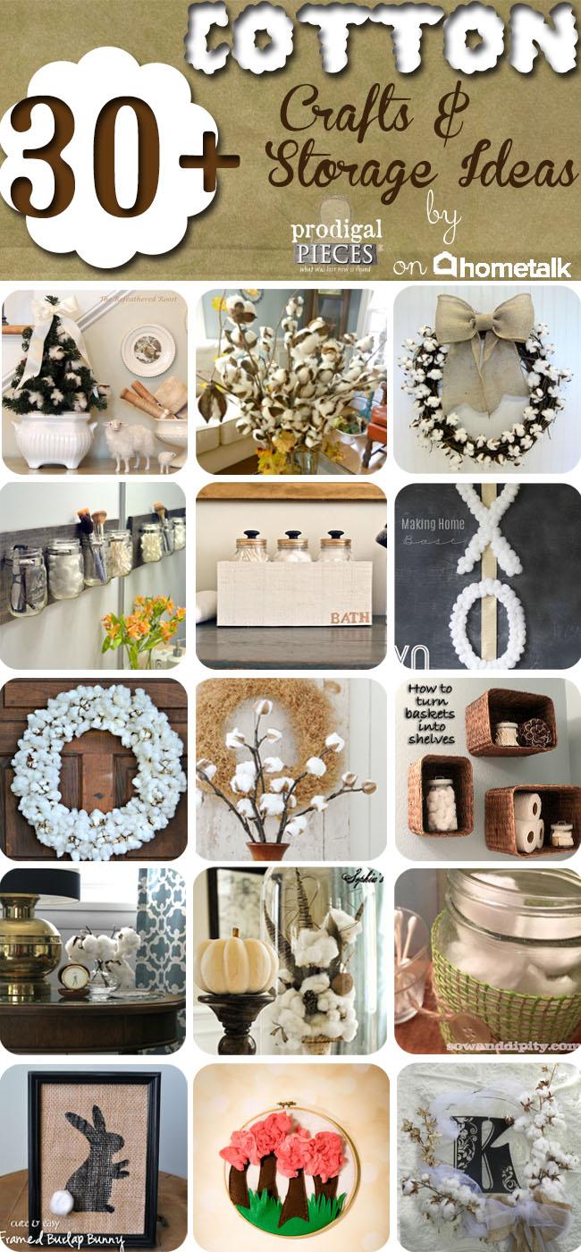20+ Cotton Crafts & Storage Ideas on Hometalk by Prodigal Pieces www.prodigalpieces.com #prodigalpieces