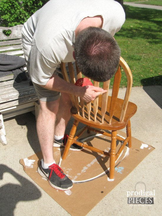 Sanding Windsor Style Chairs | prodigalpieces.com