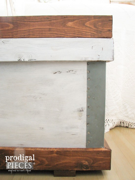 Rustic Design Trunk by Prodigal Pieces Pottery Barn Style | prodigalpieces.com