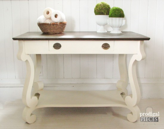 Vintage Empire Style Library Table by Prodigal Pieces | prodigalpieces.com