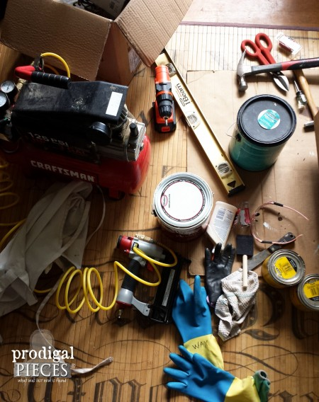 DIY Mess during project | prodigalpieces.com