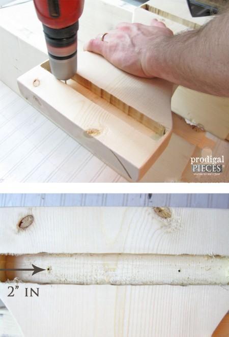 Assembling DIY Farmhouse Bench | prodigalpieces.com
