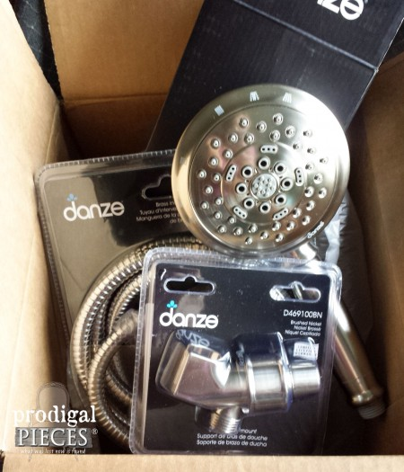 Shower Head Assembly in Brushed Nickel by eFaucets | Prodigal Pieces | www.prodigalpieces.com