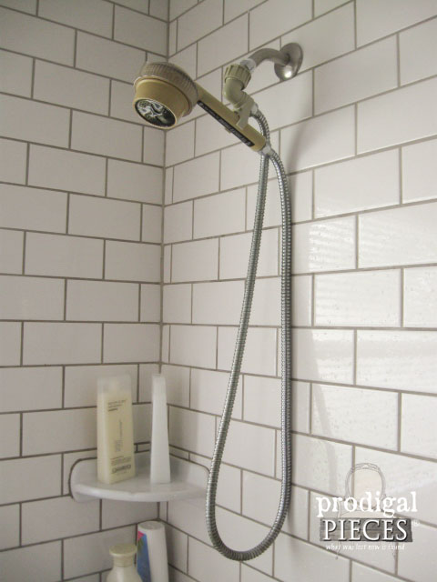 Old Shower Head Assembly in Bathroom | Prodigal Pieces | www.prodigalpieces.com
