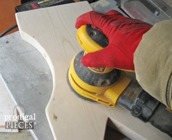 Sanding Bench Wood | prodigalpieces.com