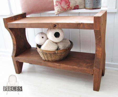 Wooden Bench with Stain Finish by Prodigal Pieces | prodigalpieces.com
