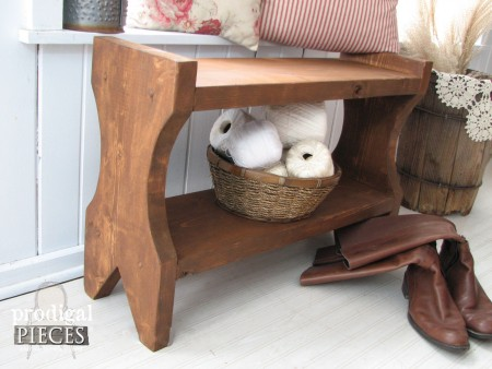 Rustic Style Farmhouse Bench DIY by Prodigal Pieces | prodigalpieces.com