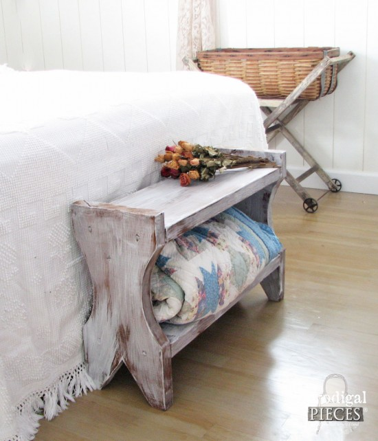 Build A Farmhouse Bench for Less than $20 - DIY Tutorial by Prodigal Pieces | prodigalpieces.com