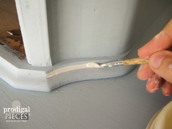 Adding Detail with Chalky Finish Paint | prodigalpieces.com #prodigalpieces