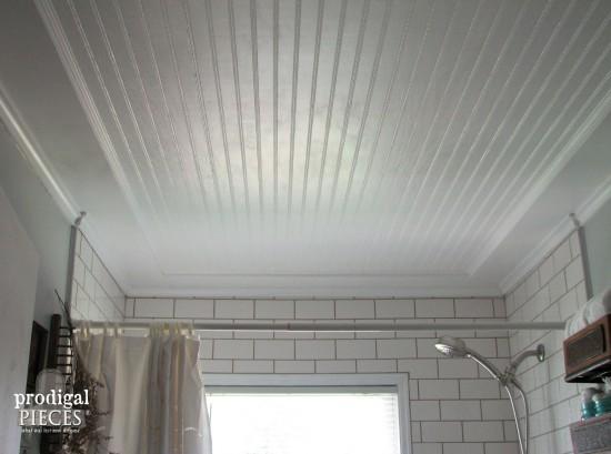 DIY Coffered Bathroom Ceiling by Prodigal Pieces | prodigalpieces.com #prodigalpieces