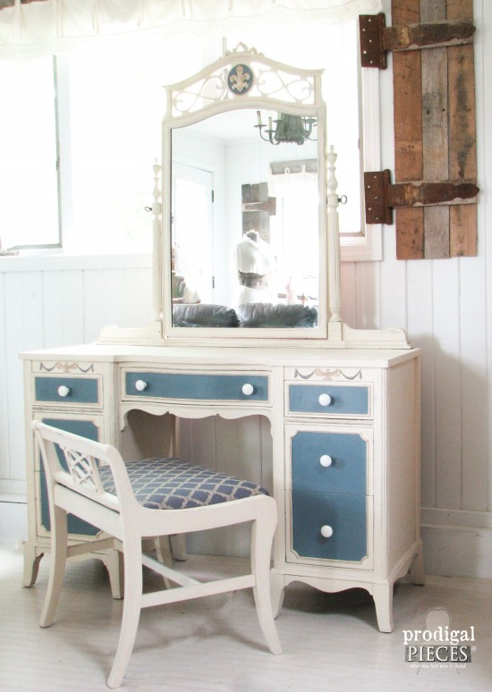 Vintage Dressing Table French Country Makeover Prodigal