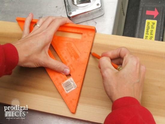 Using Builder's Square for Tray | prodigalpieces.com