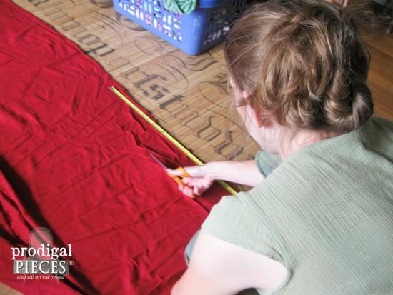 Cutting Flannel Sheet   prodigalpieces.com