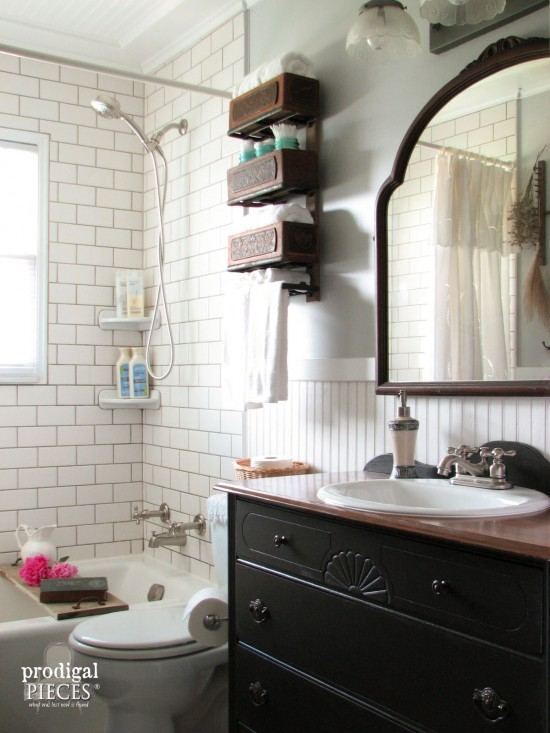 Farmhouse Bathroom Remodel Reveal Prodigal Pieces Classy Budget Bathroom Remodel Style
